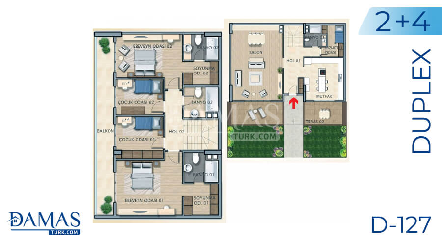 Damas Project D-127 in Istanbul - Floor plan picture 05