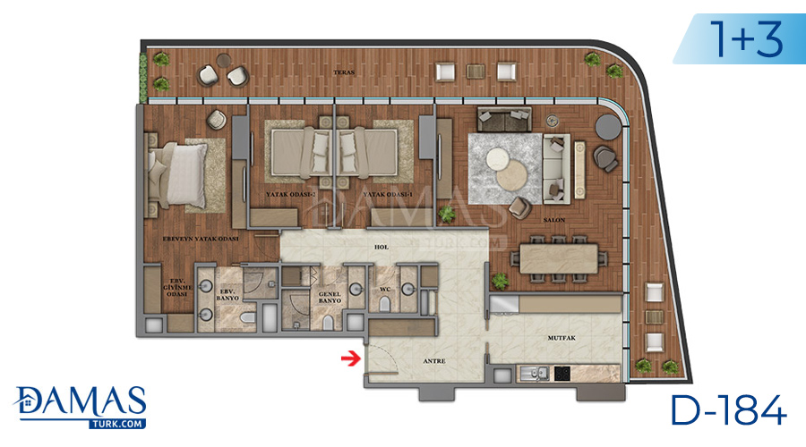 Damas Project D-184 in Istanbul - Floor plan picture  05