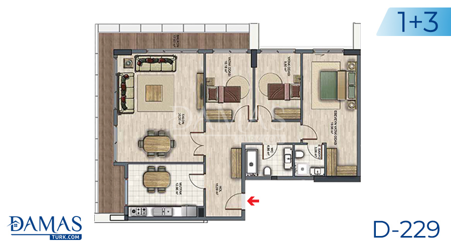 Damas Project D-229 in Istanbul - Floor plan picture  05