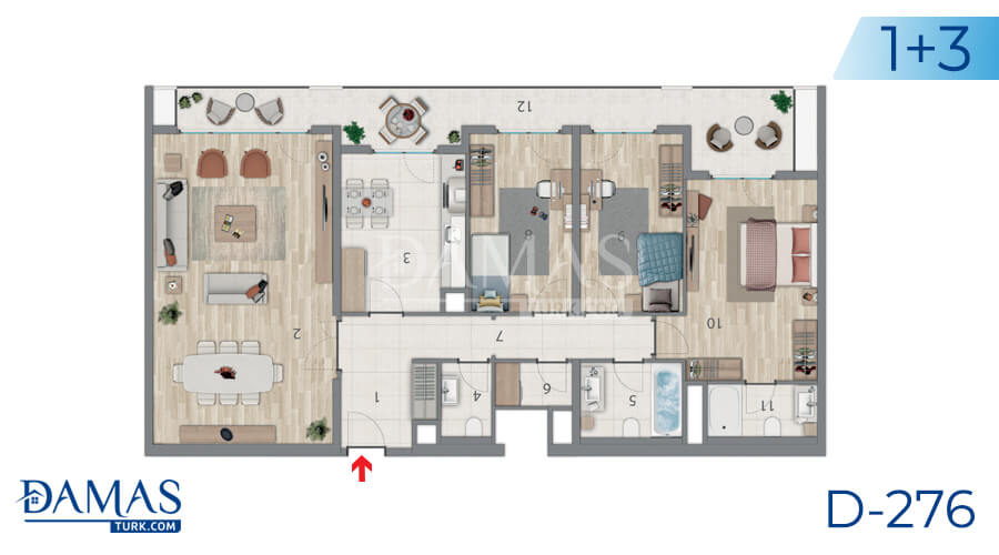 Damas Project D-276 in Istanbul - Floor plan picture 05