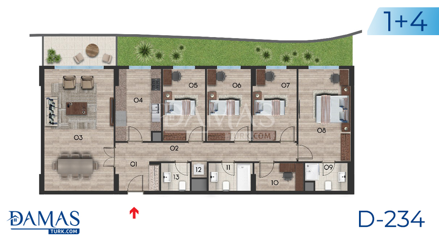 Damas Project D-234 in Istanbul - Floor plan picture  05