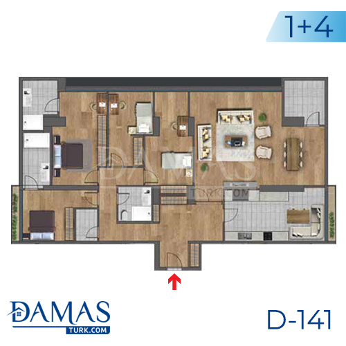 Damas Project D-141 in Istanbul - Floor plan picture 05