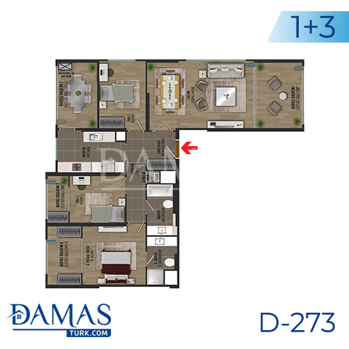 Damas Project D-273 in Istanbul - Floor plan picture 05