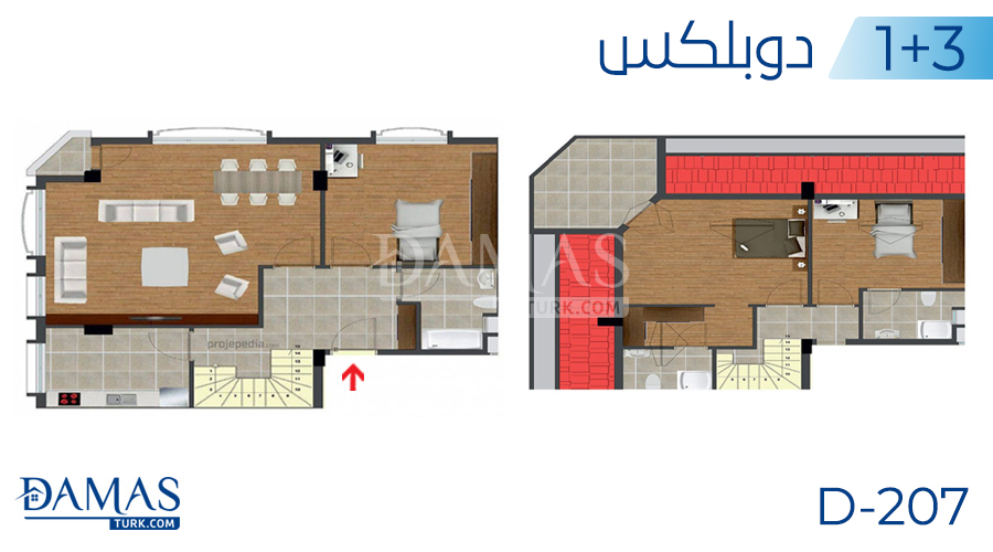 Damas Project D-207 in Istanbul - Floor plan picture  05