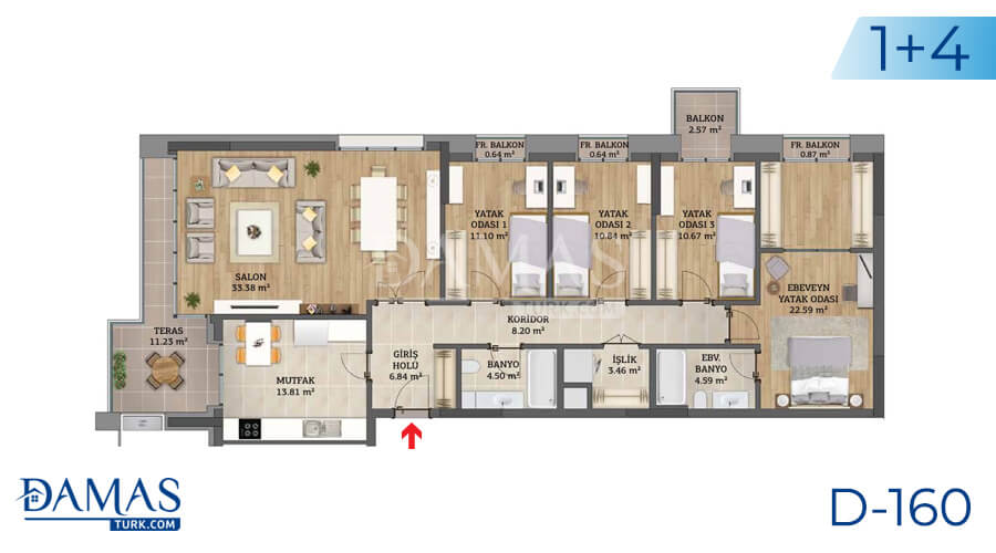 Damas Project D-160 in Istanbul - Floor plan picture 05