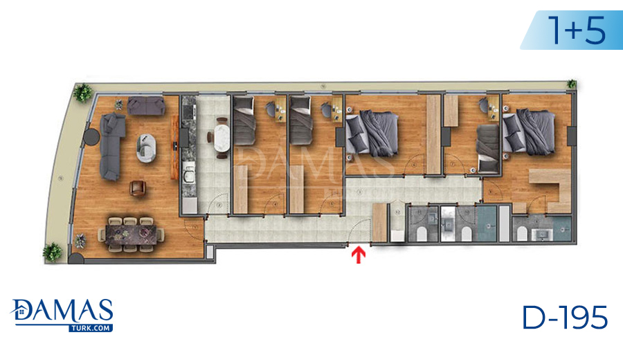 Damas Project D-195 in Istanbul - Floor plan picture  05