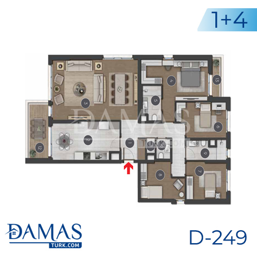 Damas Project D-249 in Istanbul - Floor plan picture 05