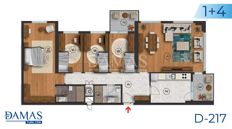 Damas Project D-217 in Istanbul - Floor plan picture  05