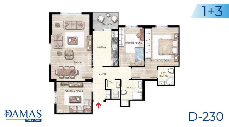 Damas Project D-230 in Istanbul - Floor plan picture  05