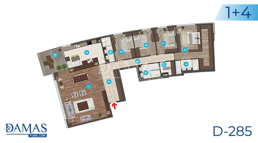 Damas Project D-285 in Istanbul - Floor plan picture 05