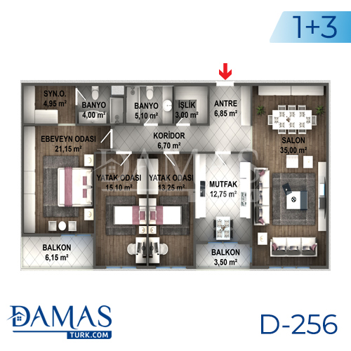 Damas Project D-256 in Istanbul - Floor plan picture 05