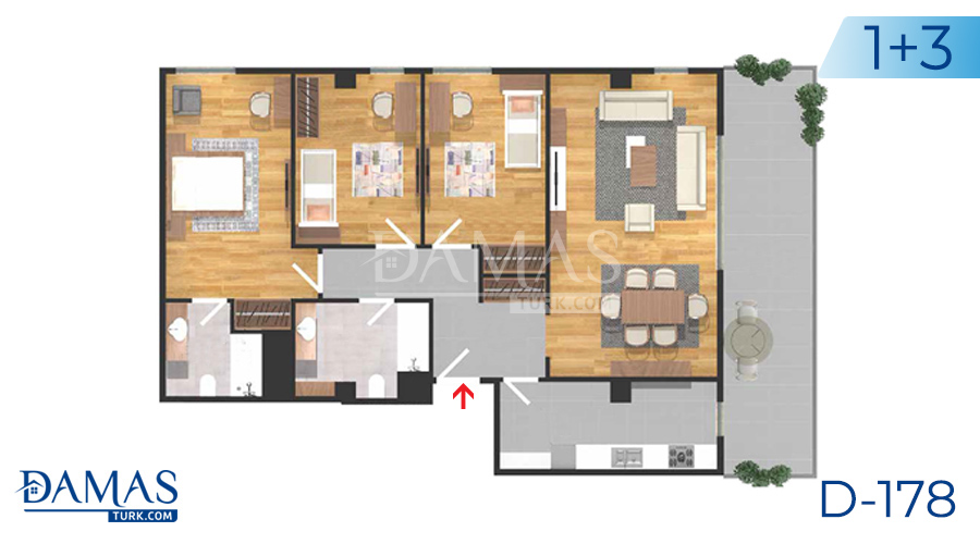 Damas Project D-178 in Istanbul - Floor plan picture  05