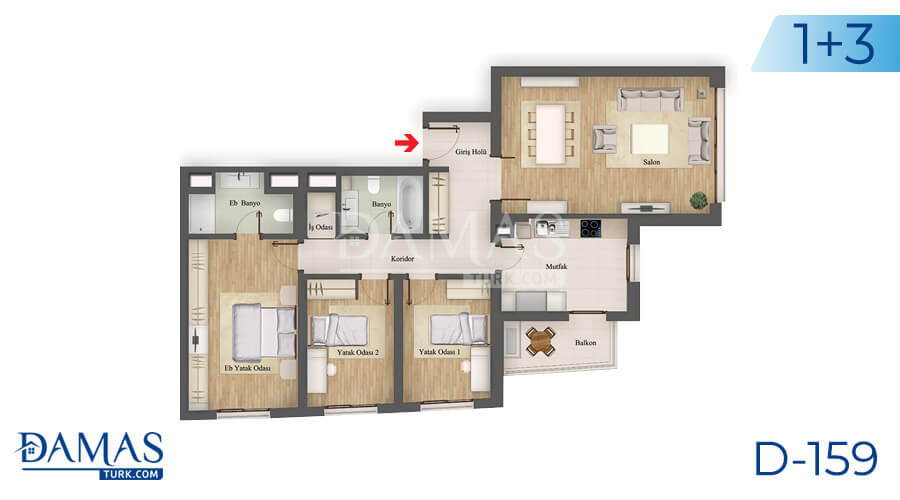 Damas Project D-159 in Istanbul - Floor plan picture 05