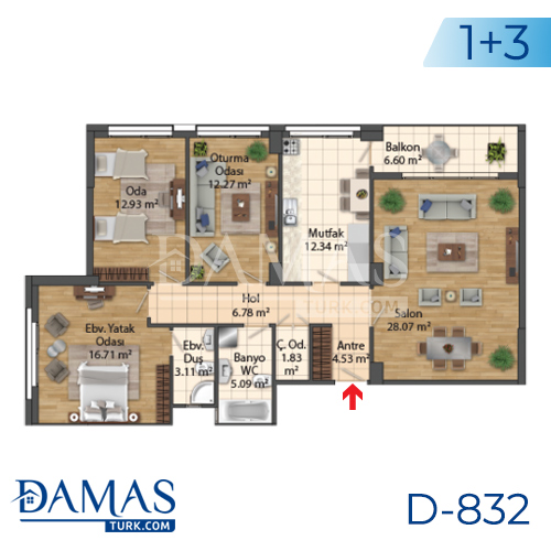 Damas Project D-832 in Istanbul - Floor Plan picture 05