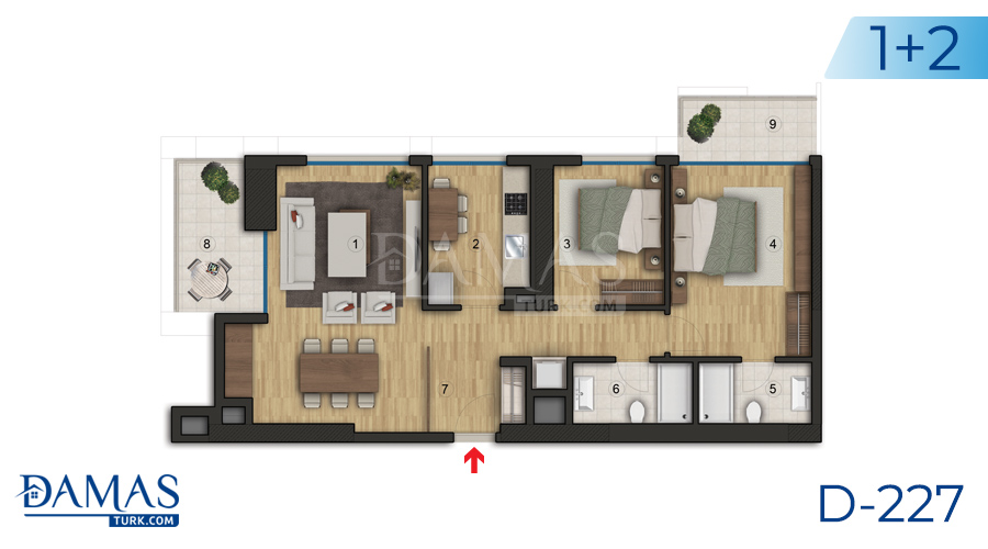 Damas Project D-227 in Istanbul - Floor plan picture  05