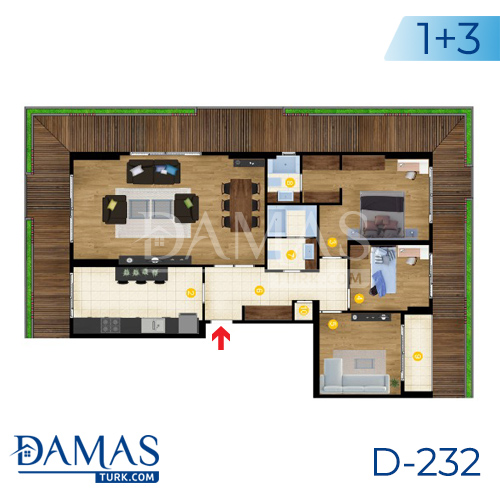 Damas Project D-232 in Istanbul - Floor Plan picture  05