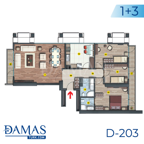Damas Project D-203 in Istanbul - Floor plan picture  05