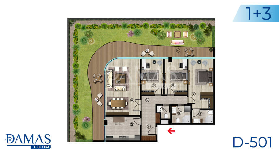Damas Project D-501 in Kocaeli - Floor plan picture  05