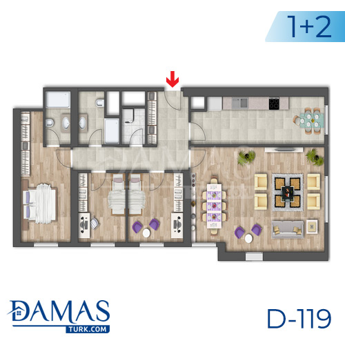 Damas Project D-119 in Istanbul - Floor plan picture 05