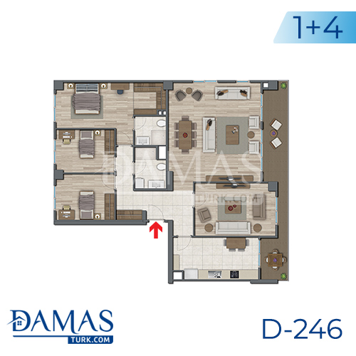 Damas Project D-246 in Istanbul - Floor plan picture 05