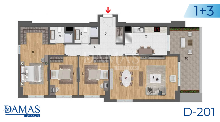 Damas Project D-201 in Istanbul - Floor plan picture  05