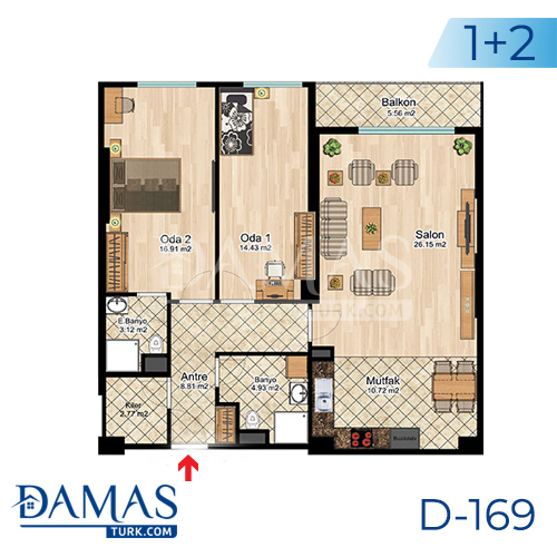 Damas Project D-169 in Istanbul -Floor plan picture  05