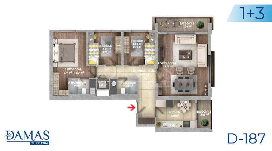 Damas Project D-187 in Istanbul - Floor plan picture  05