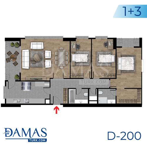 Damas Project D-200 in Istanbul - Floor plan picture  05
