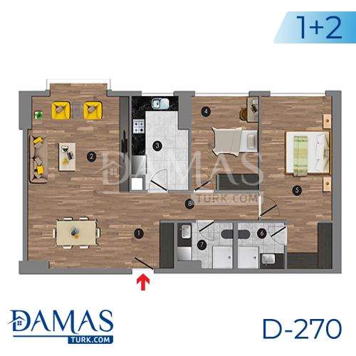 Damas Project D-270 in Istanbul - Floor plan picture 05