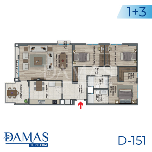 Damas Project D-151 in Istanbul - Floor plan picture 05