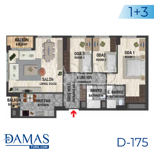 Damas Project D-175 in Istanbul - Floor plan picture  05