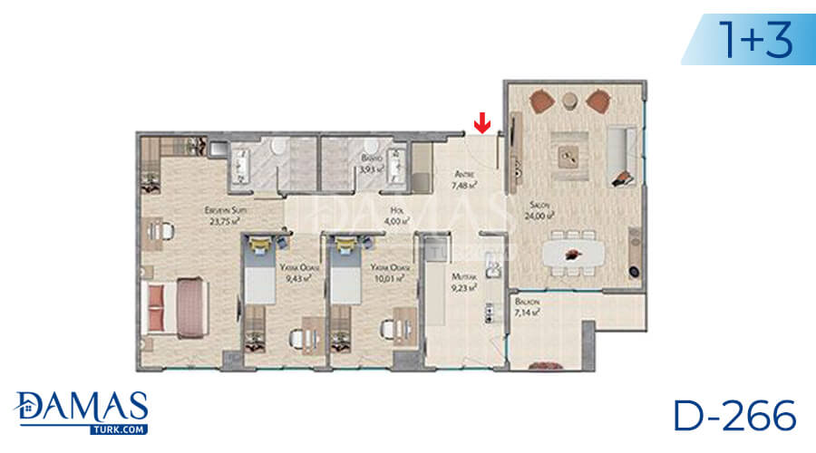 Damas Project D-266 in Istanbul - Floor plan picture 05