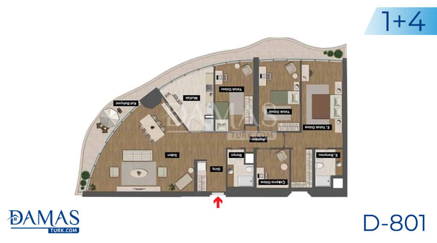 Damas Project D-801 in Istanbul - Floor plan picture 05