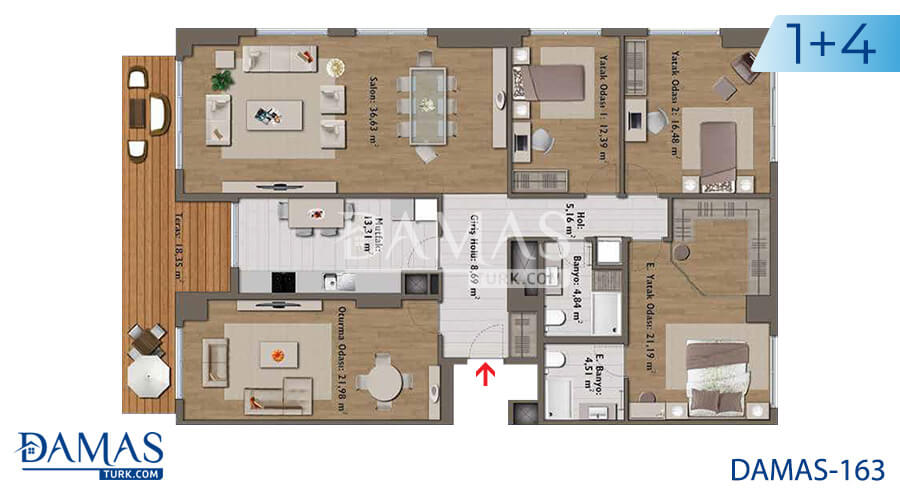 Damas Project D-163 in Istanbul - Floor plan picture 05