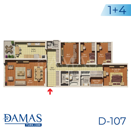 Damas Project D-107 in Istanbul - Floor plan picture 05