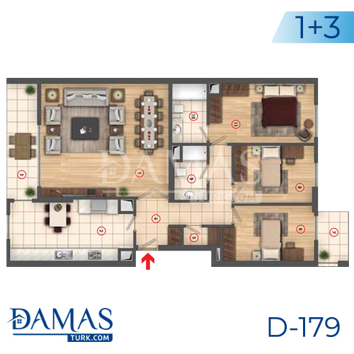 Damas Project D-179 in Istanbul - interior picture  05