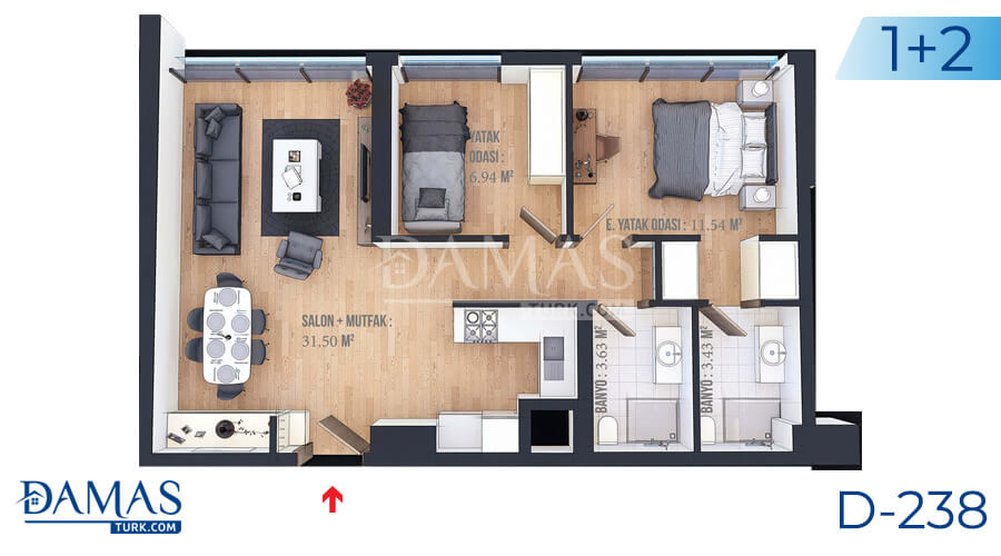 Damas Project D-238 in Istanbul - Floor plan picture  05