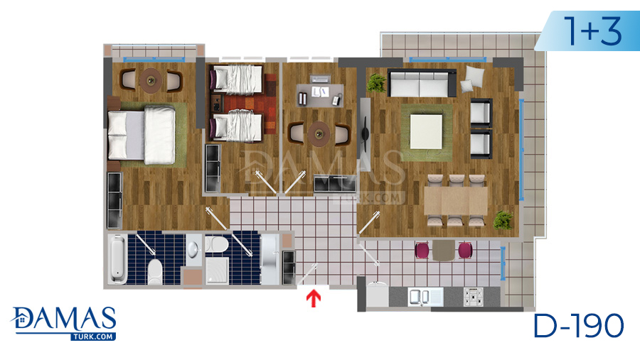 Damas Project D-190 in Istanbul - Floor plan picture  05
