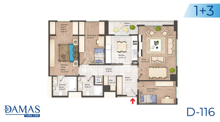 Damas Project D-116 in Istanbul - Floor plan picture 05