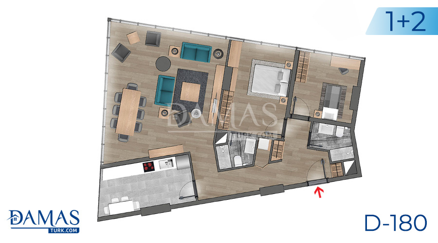 Damas Project D-180 in Istanbul - Floor plan picture  05