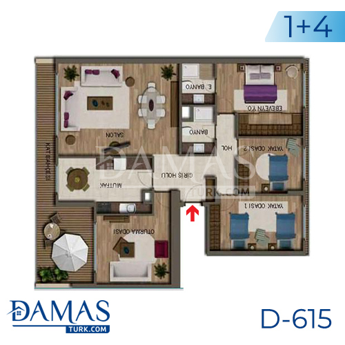Damas Project D-615 in Antalya - Floor plan picture 05