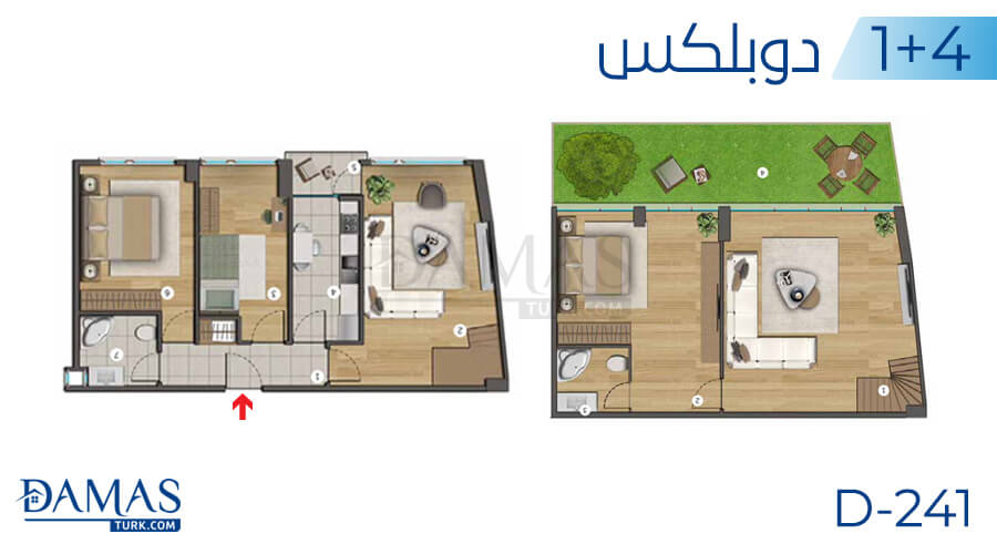 Damas Project D-241 in Istanbul - Floor plan picture  05