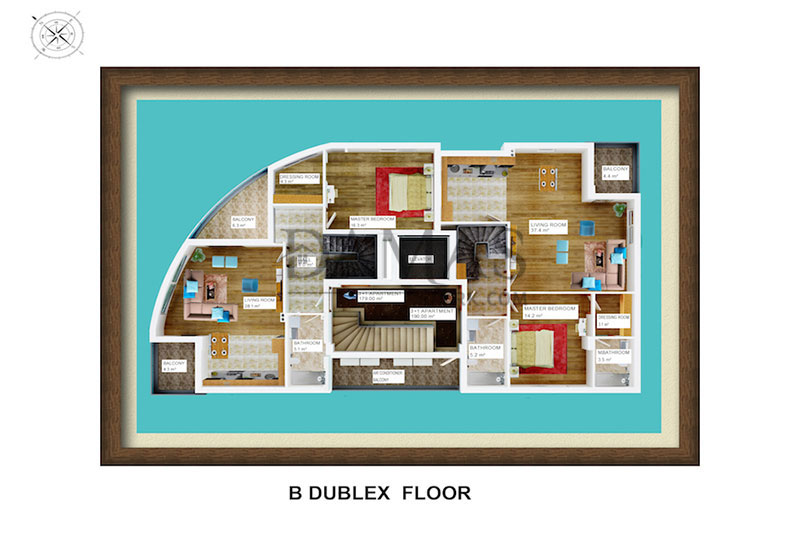 Damas 602 Project in Antalya - Floor Plan 05