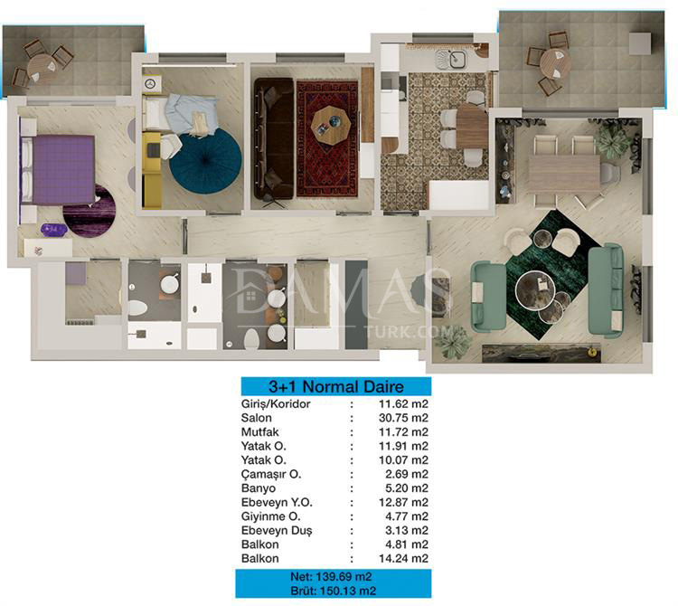 Damas 203 Project in Bursa - Floor Plan 05