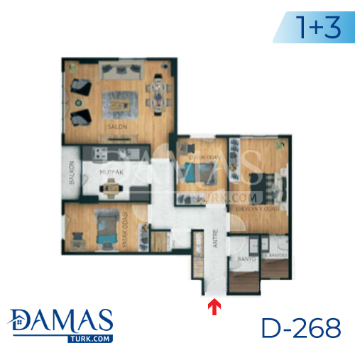 Damas Project D-268 in Istanbul - Floor plan picture 05