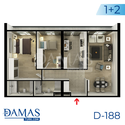 Damas Project D-188 in Istanbul - Floor plan picture  05