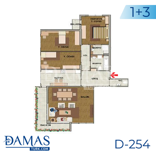 Damas Project D-254 in Istanbul - Floor plan picture 05