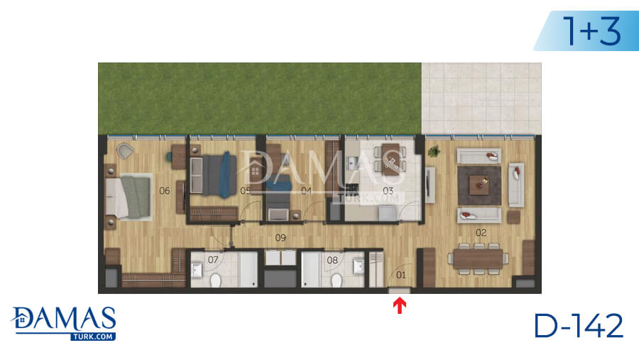 Damas Project D-142 in Istanbul - Floor plan picture 05