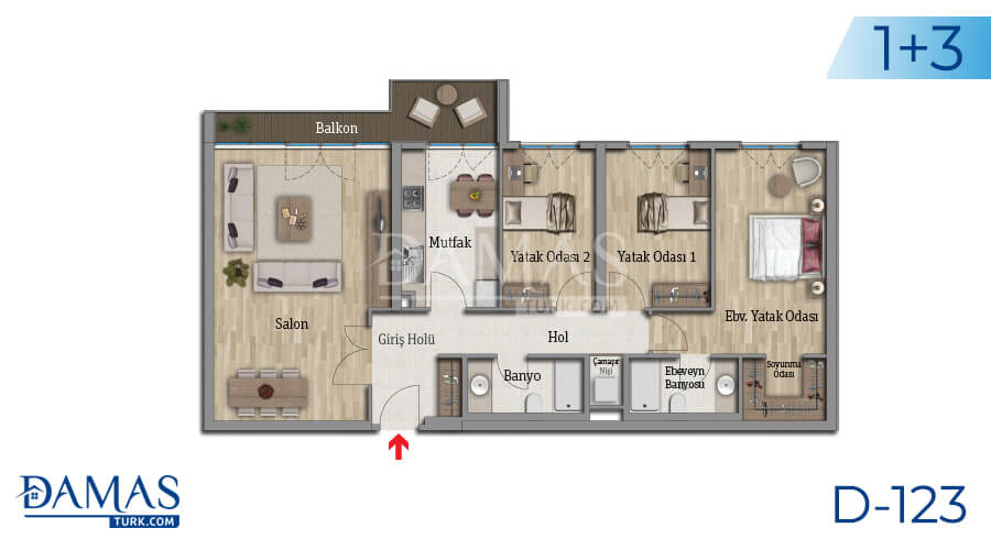 Damas Project D-123 in Istanbul - Floor plan picture 05