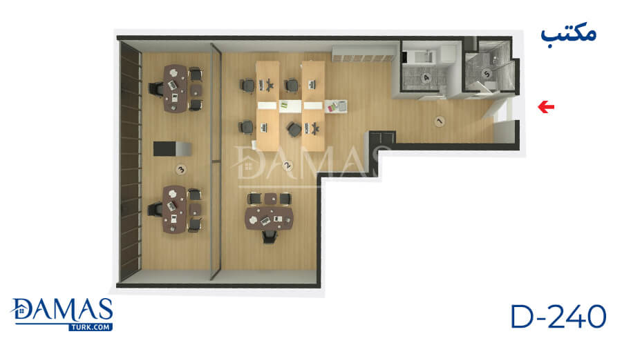 Damas Project D-240 in Istanbul - Floor plan picture  05